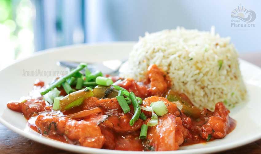 Basil Chilly Chicken Basil Cafe Bejai Mangalore - Basil Cafe - Bejai Kapikad