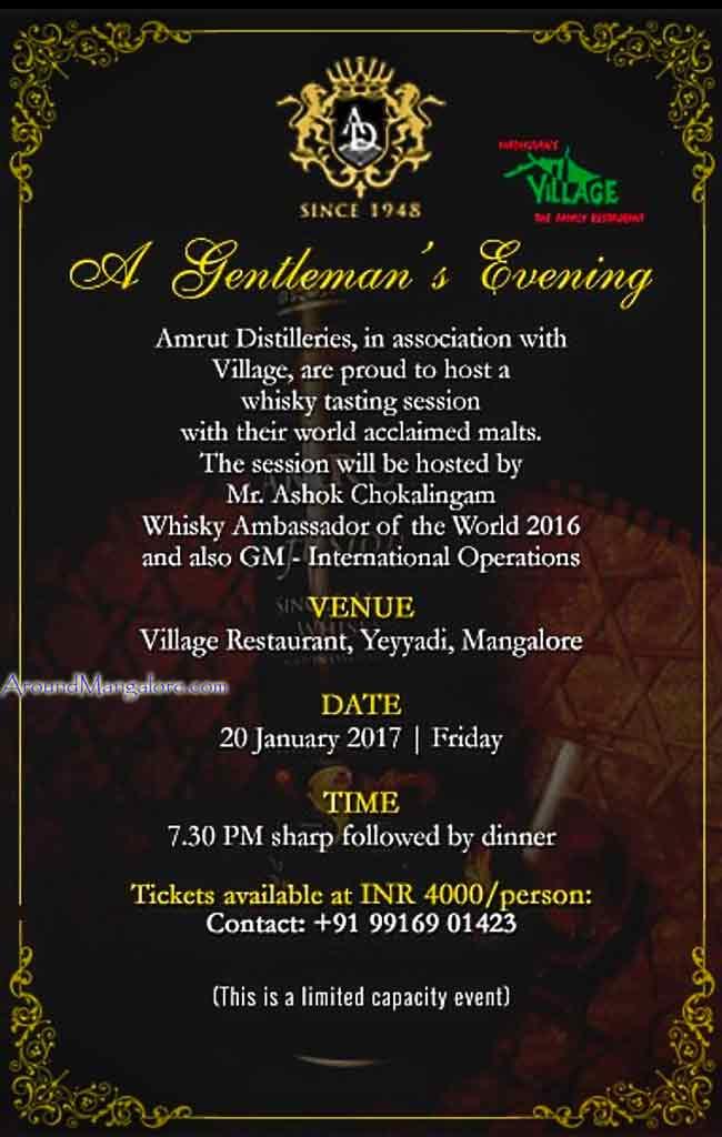 A Gentlemans Evening – 20 Jan 2017 – Village Restaurant