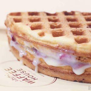 Strawberry Cream Cheese Belgian Waffle Waffee House Cafe Waffle plus Coffee Bendoorwell Mangalore 300x300 - Waffee House - Cafe -Bendoorwell