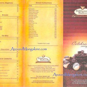 Cake (Food) Menu - Ribbons and Balloons - Ballalbagh, Mangalore
