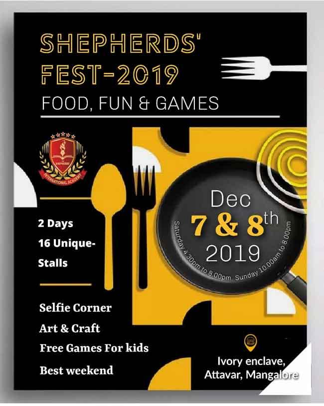 Shepherds Fest 2019 - 7 & 8 Dec 2019 - Ivory Enclave, Attavar, Mangalore