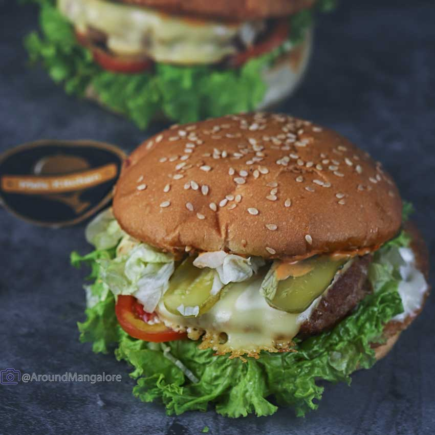 Lamb Burger - Mel's Kitchen (Cloud Kitchen in Mangalore)