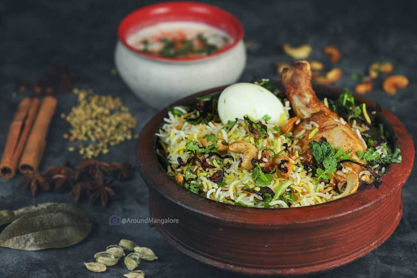 Mangalore Chicken Biryani - Roshan's Dum Biryani - Cloud Kitchen in Mangalore