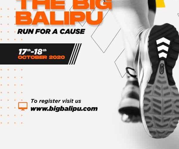 The Big Balipu – Run for a cause – 17 & 18th Oct 2020 – Mangalore