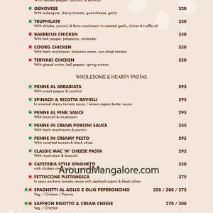 Food Menu - The Curry Wok - Mangalore
