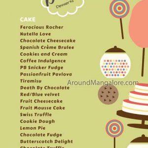 Cake / Food Menu - Dolce Desserts - Manipal, Udupi