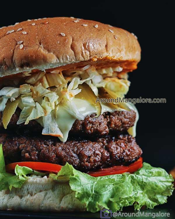Double Decker Buffalo Meat Burger O Salgados – Cloud Kitchen in Mangalore - O Salgados - Cloud Kitchen in Mangalore