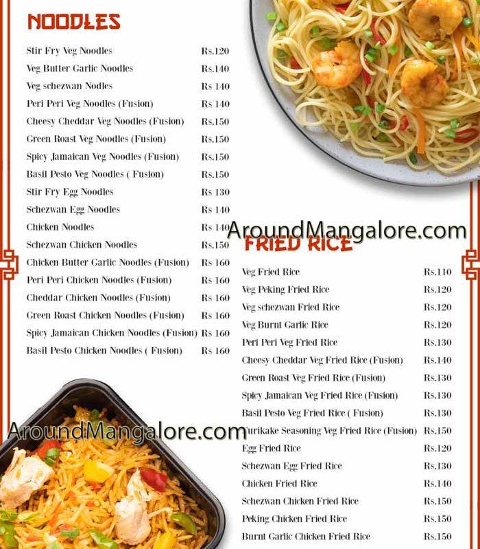Food Menu - Shanghai Fusion - Cloud Kitchen in Mangalore