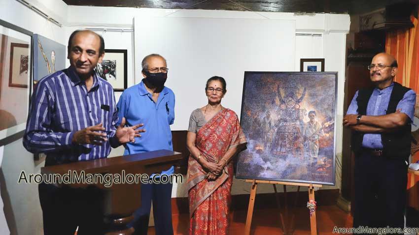 Art of the Week – Mahishasura Pravesha by Ganesha Somayaji – 31 Jul 2021 – S Cube Art Gallery