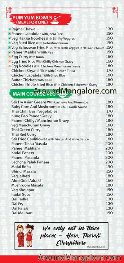 Makazai - Indo Asian Cloud Kitchen in Manipal
