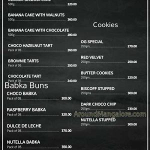 Food Menu - Oven Groove - Home Baker in Mangalore - Mangalore