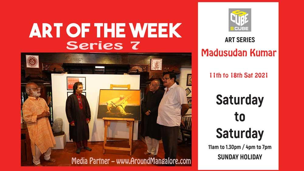 Art of the Week (Series 7) - Megh Malhar - Oil on Canvas - Madusudan Kumar - Sep21