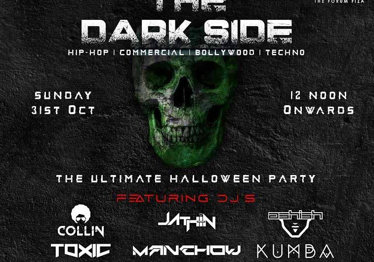 THE DARK SIDE – The ultimate Halloween party – 31 Oct 2021 – Sherlock's The Forum Fiza, Mangalore